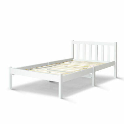 Artiss Single Size Wooden Bed Frame SOFIE Pine Timber Mattress Base Bedroom