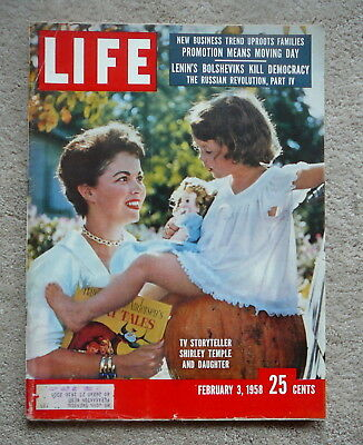Life Magazine - February 3 1958 - Shirley Temple & Daughter - Tv Storyteller