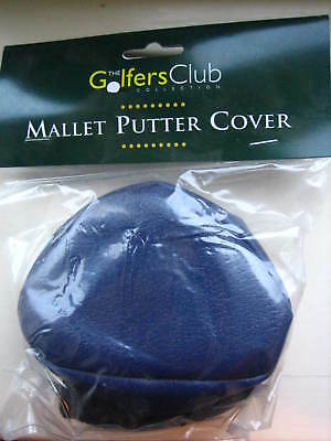 100 Mallet Golf Putter Head Cover Navy Quality Vinyl With Sock BNIP Wholesale