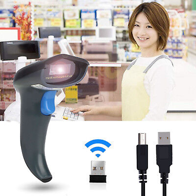 USB Wireless/Wired Handheld 1D 2D Barcode Scanner QR Bar Code Reader for Windows