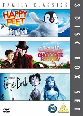Happy Feet/Charlie And The Chocolate Factory/Corpse Bride [DVD] [2... -  CD QMVG