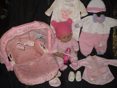 Baby Annabell Paket: Puppe Mit Interactive Schnuller, Maxi Cosy, 4 Outfits.....!