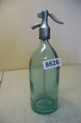 8626. Alte Sodaflasche  Siphonflasche 1 l Old soda siphon seltzer