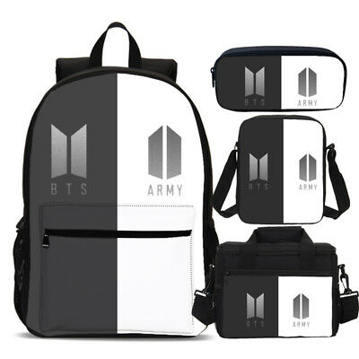 BTS & Army KPOP Girls Backpack Insulated Lunch Box Pencil Case Shoulder Bag Lot