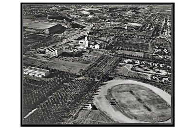 nsw BROKEN HILL Township Oval 1st aerial view 1959 modern digital Photo Postcard