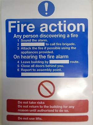150x FIRE Action Sign Assembly Point Health and Safety Emergency Label Sticker