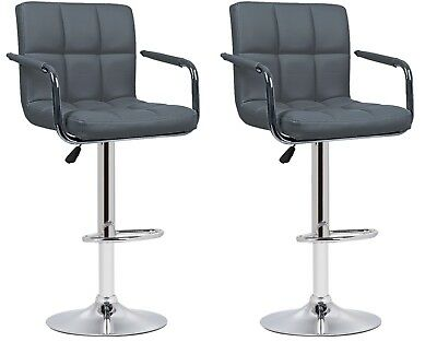 Cool 2 Grey Faux Leather Milan Bar Stools With Arms Top Quality Onthecornerstone Fun Painted Chair Ideas Images Onthecornerstoneorg