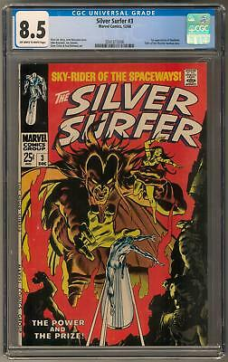Silver Surfer #3 CGC 8.5 (OW-W) 1st Mephisto Appearance