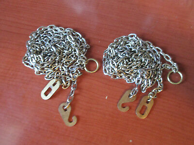 """PAIR of BRASS PLATED GRANDFATHER / GRANDMOTHER CLOCK CHAIN  54""""  (206M)"""