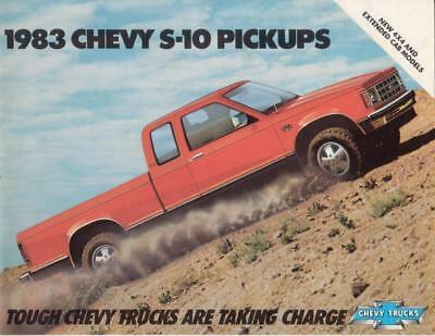 RF1799 1983 Chevrolet Chev Chevy Pickup Truck S-10 Dealer Sales Brochure