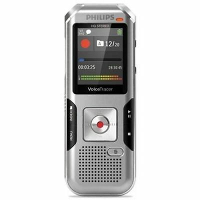 Philips Voice Tracer 4010 Digital Recorder, 8 GB, Silver (PSPDVT4010)