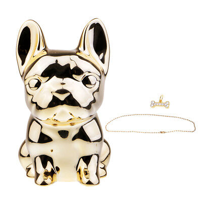 Mini Dog Piggy Bank Saving Money Box Coin Holder Kids Birthday Gift Golden