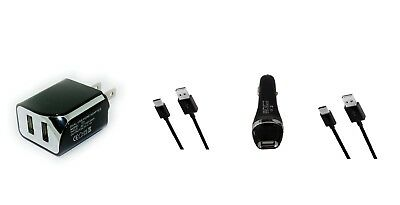 2.1A Home AC Wall+Car Charger+USB Cable for ATT ZTE Trek 2 Trek2 HD K88 Tablet