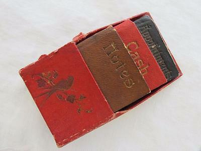 Antique Edwardian Set of Three Pocket Books - Appointments, Cash & Notes - c1910
