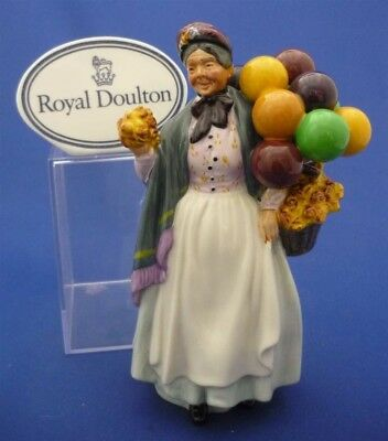 BIDDY PENNY FARTHING Royal Doulton England Doll Figurine Hn1843 Balloons Flowers