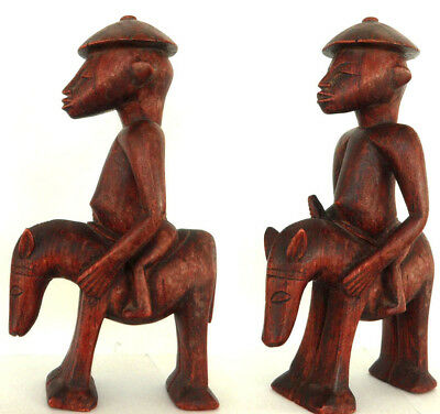 Rarity old fine Dogon Rider + hours Mali 15 inch old Germany Collection