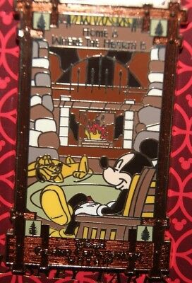 Disney DLR DCA Grand Californian Hotel Mickey Home Is Where The Hearth Is Pin
