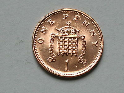 UK (Great Britain) 1994 ONE PENNY PROOF (1p) Queen Elizabeth II Coin UNC