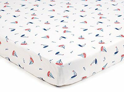 Super Dry Cot Bed Sheets In Seaside pack Of 2 By Breathablebaby