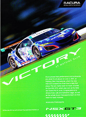 2017 Acura NSX GT3 Racer Victory at Watkins Glen photo promo print ad