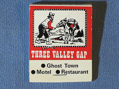 *** Three Valley Gap Ghost Town Matchbook - B.C. Canada - Full & Excellent shape