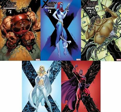 X-MEN BLACK #1 Cover SET J Scott Campbell (5 Comics) Magneto Emma Frost PRESALE
