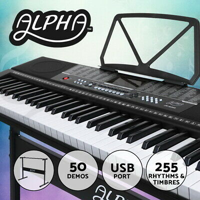【20%OFF$88】 61 Keys Electronic Piano Keyboard LED Electric Music Stand Adaptor
