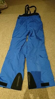 Superb Vuarnet Gore tex Goretex Waterproof salopettes ski trousers, Blue, Large