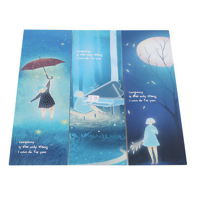 New 30Pcs Unique Lonely You Series Boxed Bookmark Markers Message Card Decors CB