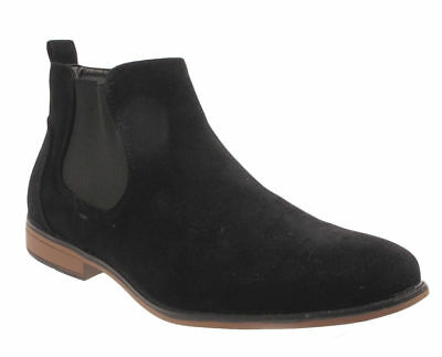 Mens Faux Suede Chelsea Boots Boys School Casual Desert Dealer Ankle Shoes