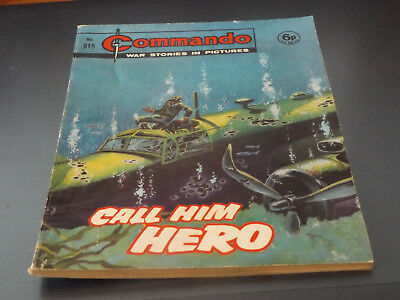 Commando War Comic Number 815!,1974 Issue,v Good For Age,44 Years Old,very Rare.