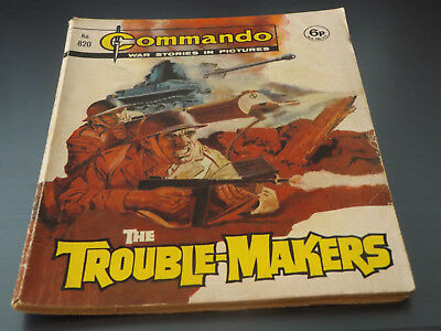Commando War Comic Number 820!,1974 Issue,good For Age,44 Years Old,very Rare.