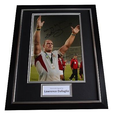 Lawrence Dallaglio Signed Framed Photo Autograph 16x12 display Rugby World Cup