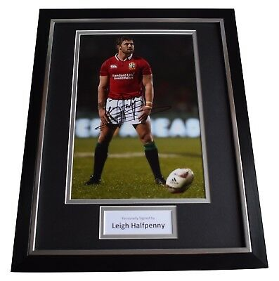 Leigh Halfpenny Signed Framed Photo Autograph 16x12 display Wales Rugby COA