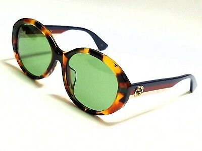 b29826359ab5 New Authentic GUCCI GG0279SA 003 Havana Multicolor/Green Lens 57mm  Sunglasses