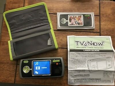 TV Now Portable Video Recorder Movies On The Go/ Tv Vcr Satellite w/Case