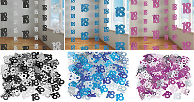 18th Birthday Decorations Hanging String Ceiling Party Room Wall Metallic Banner