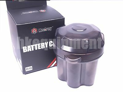 MecArmy 6x 18650 Battery Box Case Storage Capsule Container Black