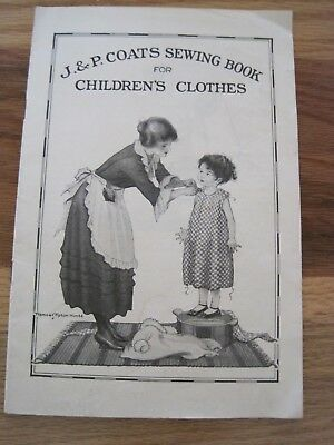 JP Coats Sewing Book for Children's Clothes 1921