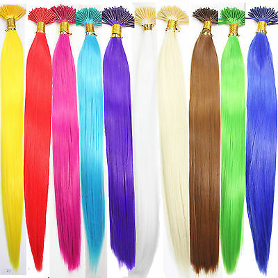 """10 Single Color Solid Synthetic Feather Hair Extensions 16"""" Long"""