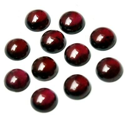 Wholesale Lot of 6mm Round Cabochon Natural Garnet Loose Calibrated Gemstone