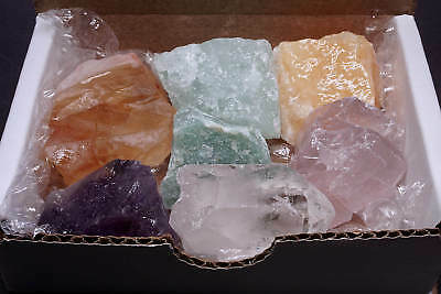 Chakra Collection 7 Natural Color Stones Crystal Amethyst Citrine Celestite More