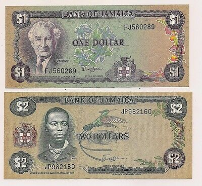 Two Bank of Jamaica Banknotes--Pristine Condition !!