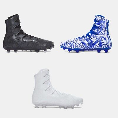 2dc5b9e50fc4 Under Armour HIGHLIGHT LUX MC Molded Football Cleat 1297953 001 100 411 Men  Size