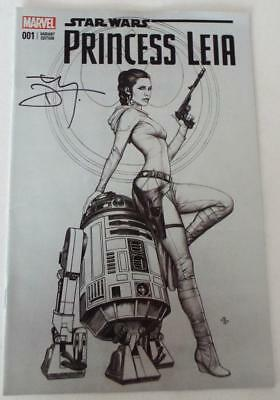 SDCC 2018 MARVEL 001 VARIANT Star Wars PRINCESS LEIA SIGNED by TERRY DODSON