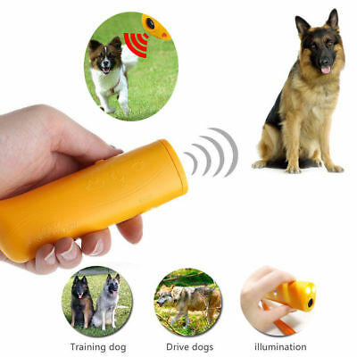 LED Dog Train Repeller Control Trainer Ultrasonic Anti Bark Device Stop Barking