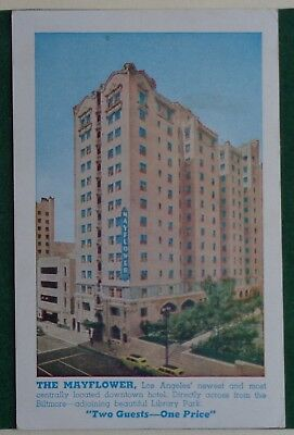THE MAYFLOWER HOTEL LOS ANGELES CALIF. Postcard