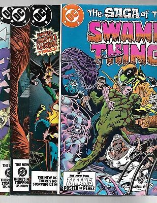Saga of the SWAMP THING 1984 22,24,26,27 J.L.A. Etrigan ALAN MOORE VF+ 8.5.