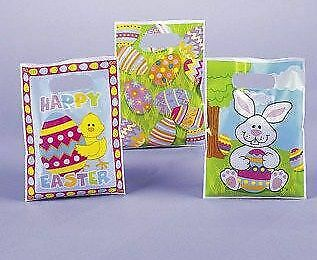 36 Assorted Polythene Easter Party BagsSpring Egg Hunt Parties