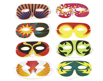 BULK BUY - 96 Foam Superhero Mask Assortment for Kids Parties